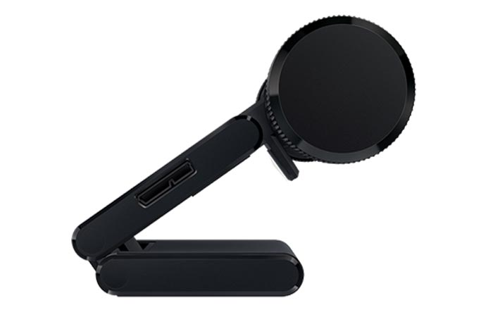 Razer Stargazer RealSense 3D Camera, side view, on a white background.