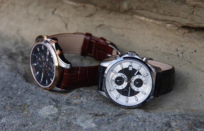 Steiger & Son Revolution 1 Chronograph Watches lying on the ground.