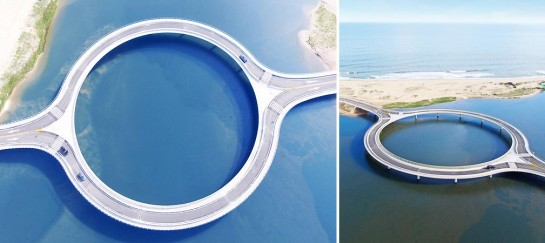 Laguna Garzon Bridge | Ring Shaped Bridge In The Uruguayan Lagoon