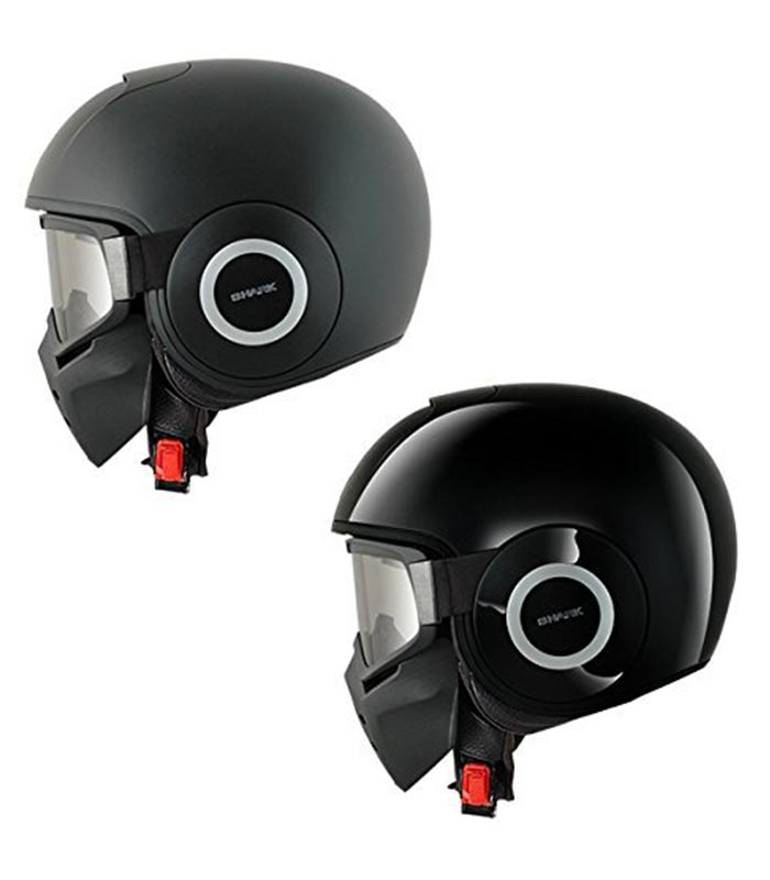 Two black helmets captured from the side.