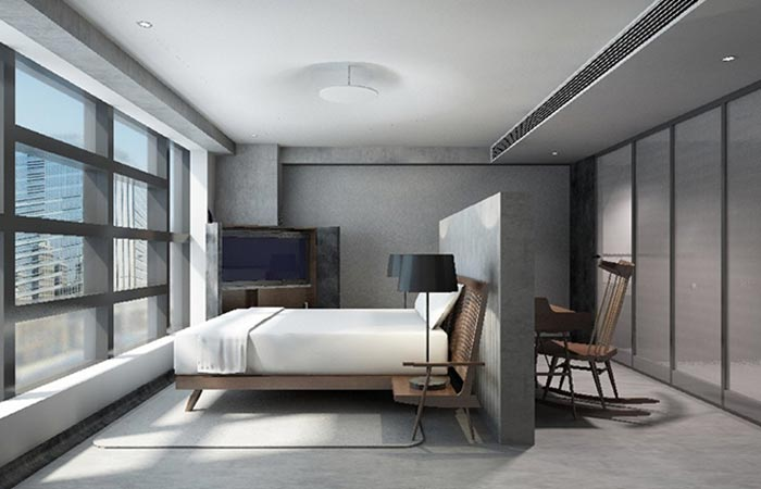 Tuve boutique hotel by design systems jebiga design for Minimalist hotel room design