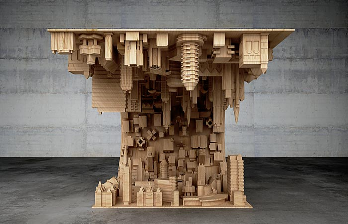 Wave City Coffee Table From The Front