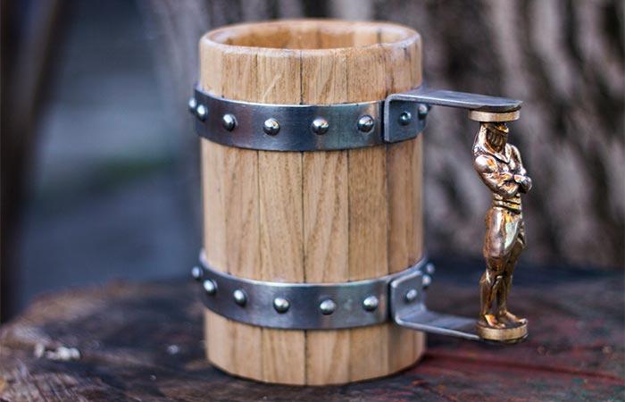 Wooden Beer Mug With A Custom Handle