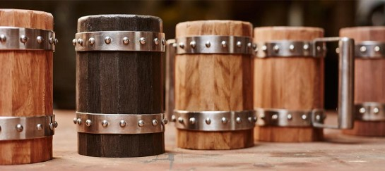 Wooden Beer Mugs | By Green Shield Workshop