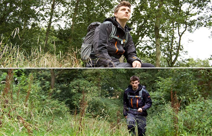 A Guy Outside Wearing Bear Grylls Men's Bear Expedition Gore-Tex Jacket