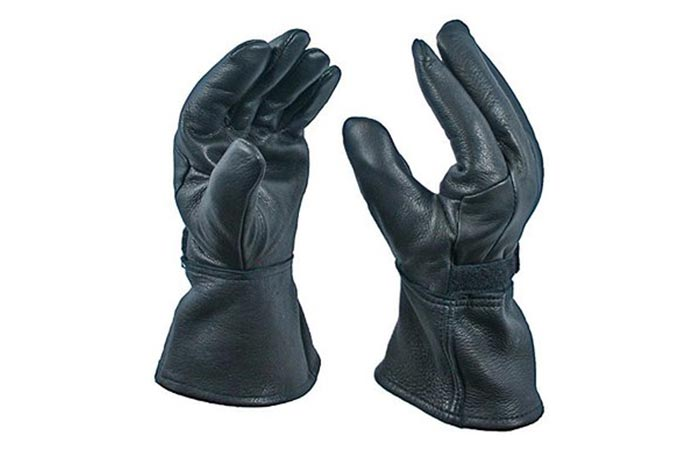 Bear Wallow Glove Company Deerskin Motorcycle Gloves