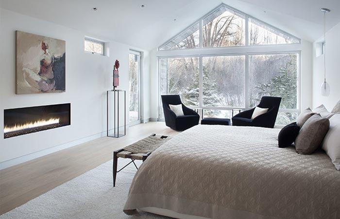 Black Birch Modern bedroom.
