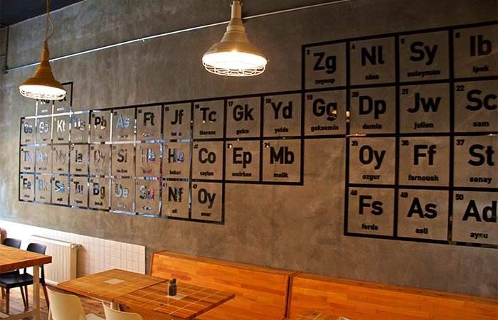 The interior of Breaking Bad-inspired coffee shop