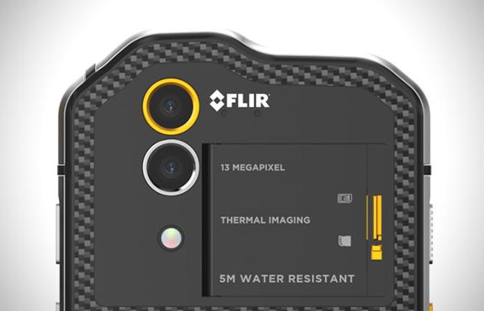 FLIR camera captured from up close.