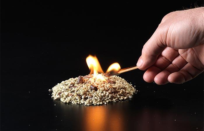 Starting A Fire With InstaFire Fire Starter
