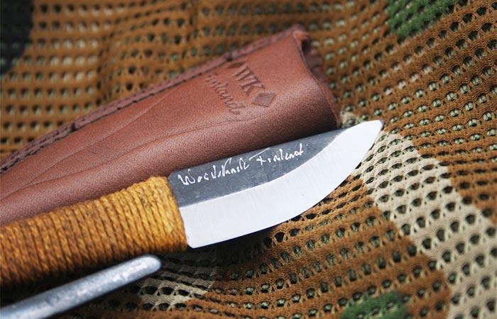 Kellam Pocket Knife With A Leather Sheath