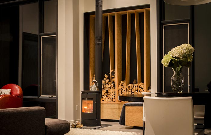 Indoor Fireplace In The Living Room