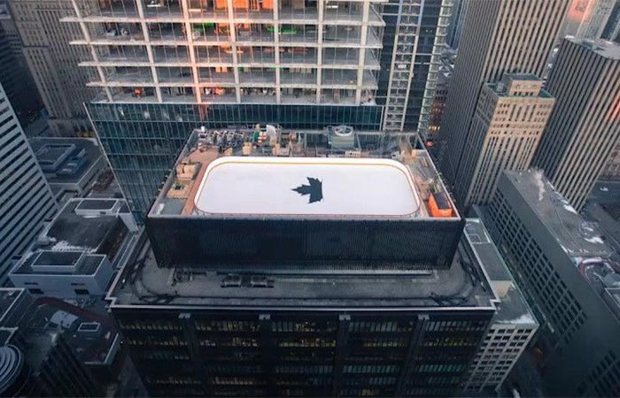 Rooftop Ice Rank For Molson Canadian