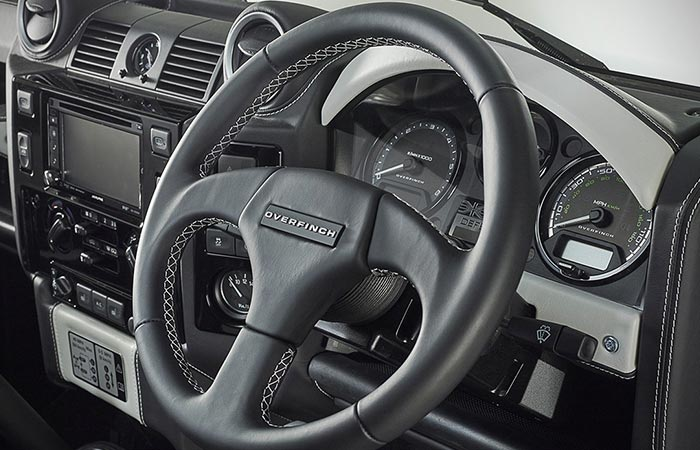 A steering wheel captured from an angle.