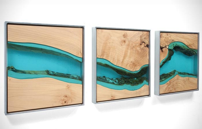 Three Pieces Of Gregory Klassen's River Divided Wall Art