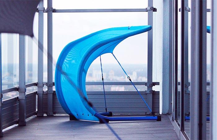 Blue Suzak Chair