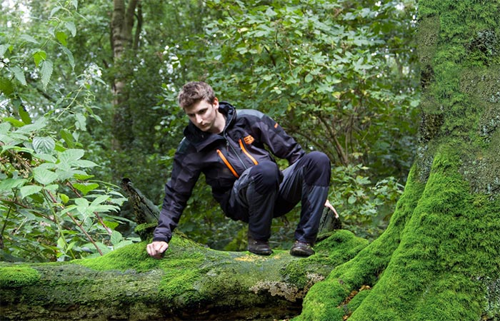 A Guy Wearing Bear Grylls Men's Bear Expedition Gore-Tex Jacket