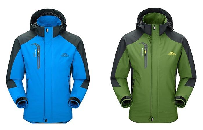 Men's Sportswear Hooded Softshell Outdoor Waterproof Jacket by Diamond Candy