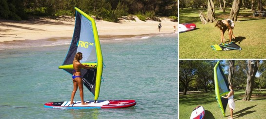 iRig One | Inflatable Windsurfing Rig That Sails on Air