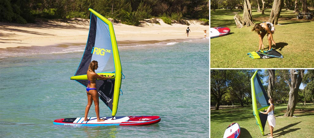 iRig One - Inflatable Windsurfing Rig That Sails on Air
