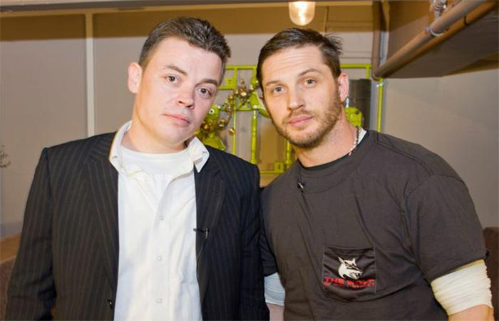 Tom Hardy with Kenny Ross