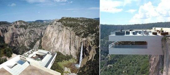 Cantilevered Restaurant Overhangs A Canyon In Mexico