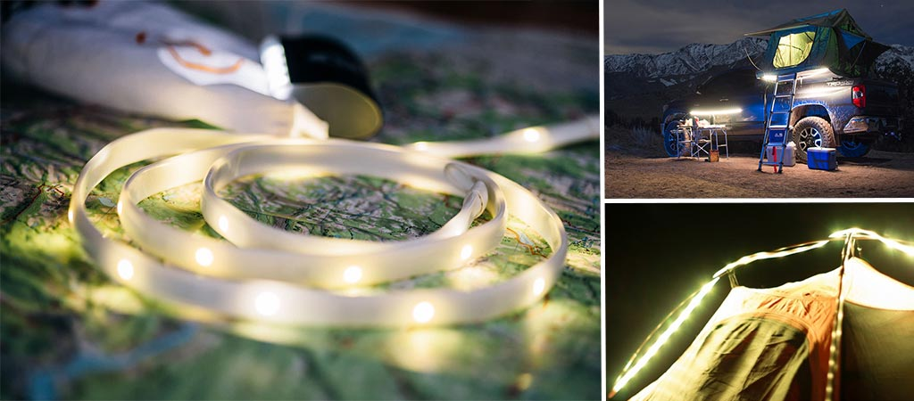 Luminoodle Color And Basecamp | Portable Light Ropes