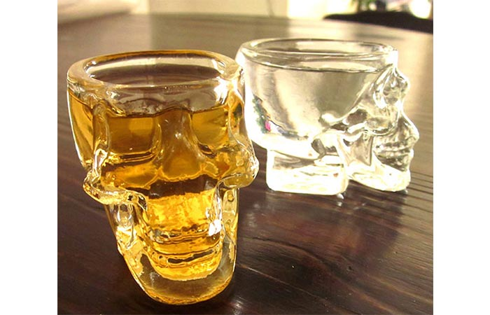 Mini Crystal Skull Transparent Glass Cup