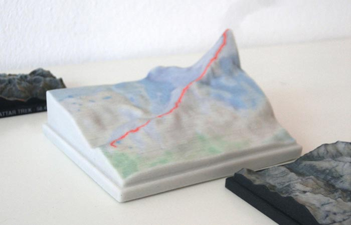 White Nicetrails 3D Printed Model