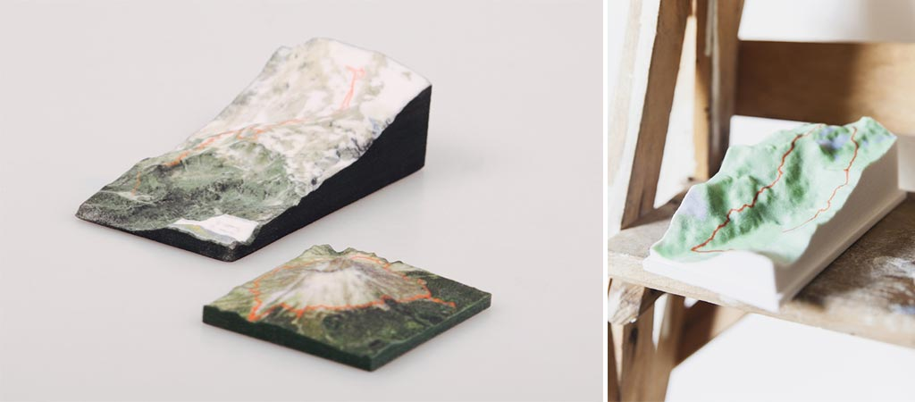 Nicetrails - Custom 3D Printed Art Pieces of Your GPS Tracks
