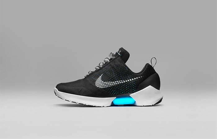 Black Nike HyperAdapt 1.0 Shoe From The Side