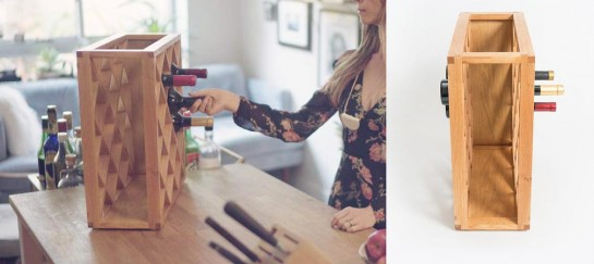 Pinetti Wine Rack   A See-Through Wine Rack