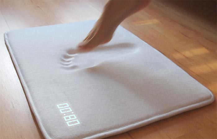 Ruggie Alarm Clock Memory Foam When A Foot Touches It