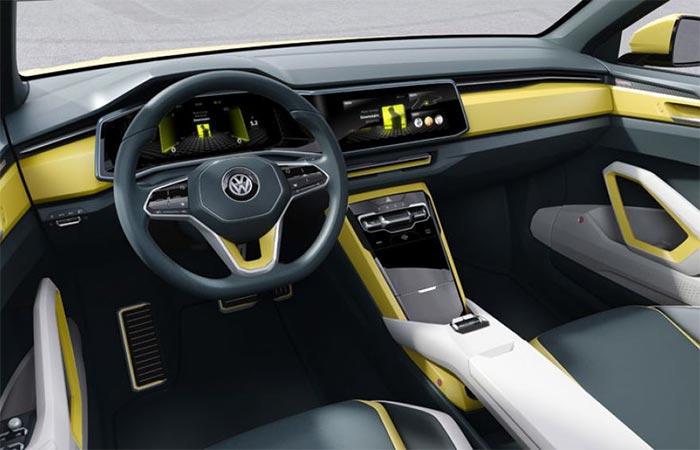 The Inside Of The Volkswagen T-Cross Breeze Convertible SUV