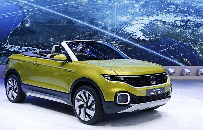 Volkswagen T-Cross Breeze Convertible SUV At The Geneva International Motor Show 2016