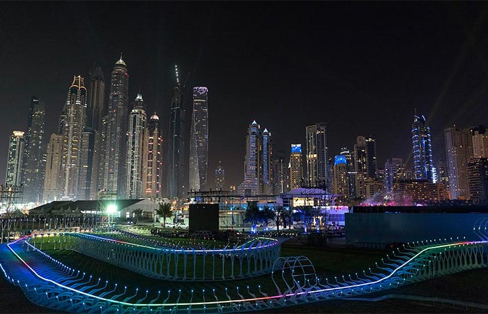 The World Drone Prix Track In Dubai
