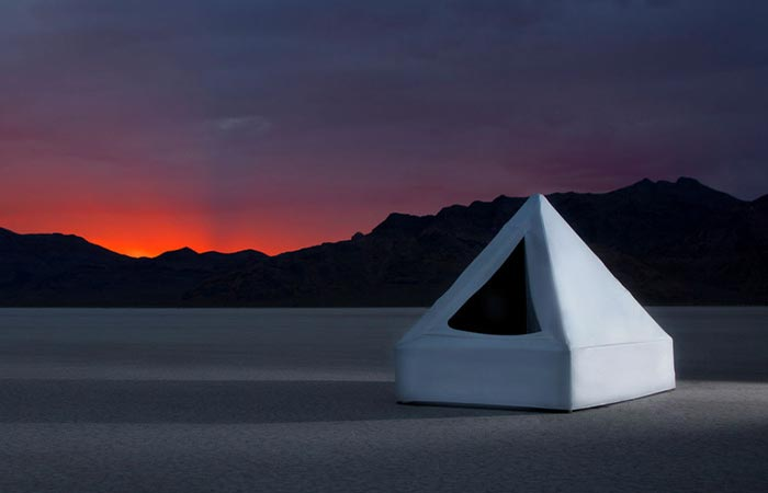 Zen Float Tent At Sunset