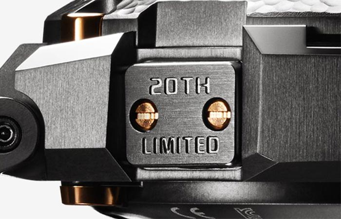 20th Limited Side Plate On Limited Editon Of Hammer Tone MR-G Watch