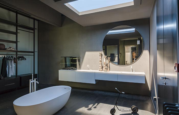 A Bathroom With Coelux Artificial Light