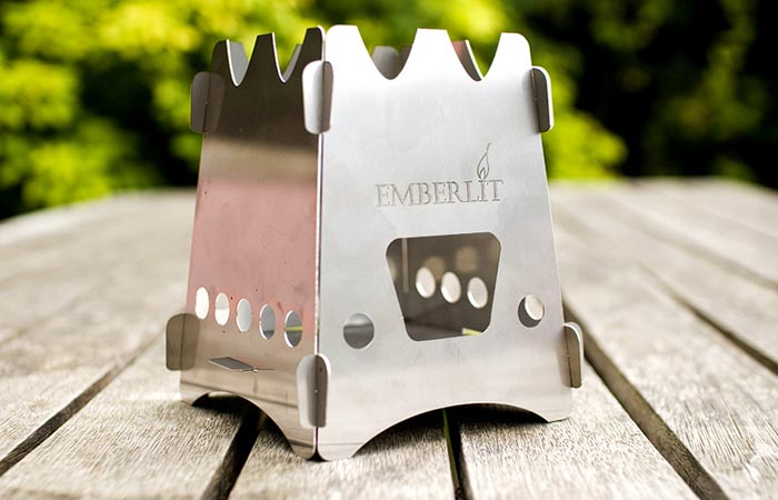EmberLit Camp Stove Set Up