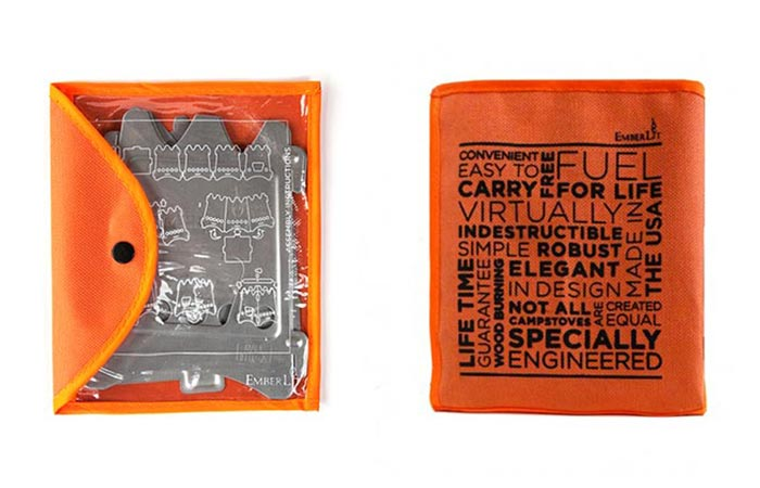 EmberLit Camp Stove Placed Inside A Sleeve