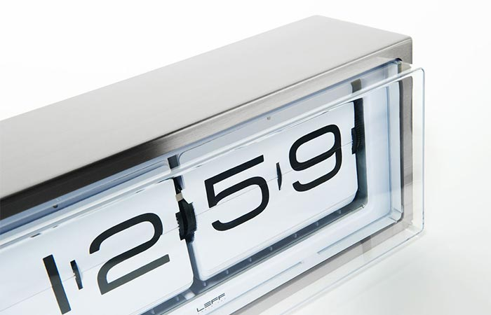 Charming Leff Amsterdam Brick Steel White Clock