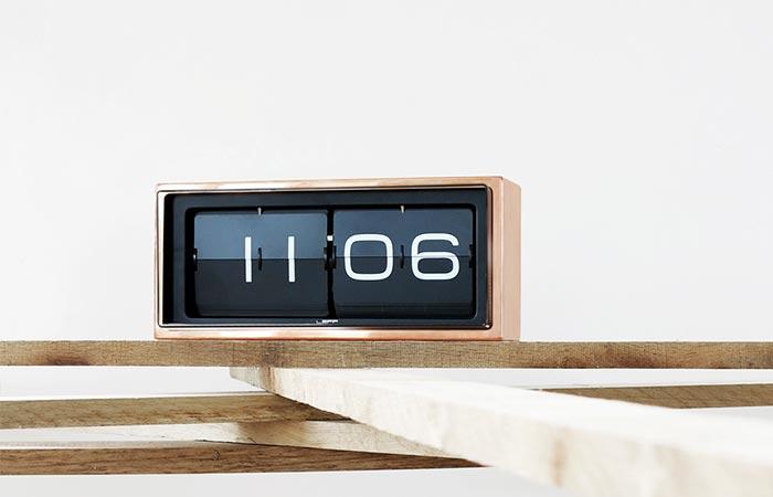 Leff Amsterdam Brick Copper Clock