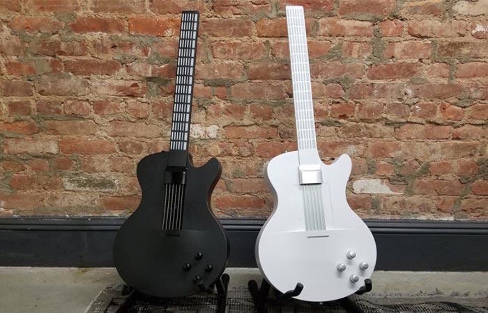 Black And White MI Guitar