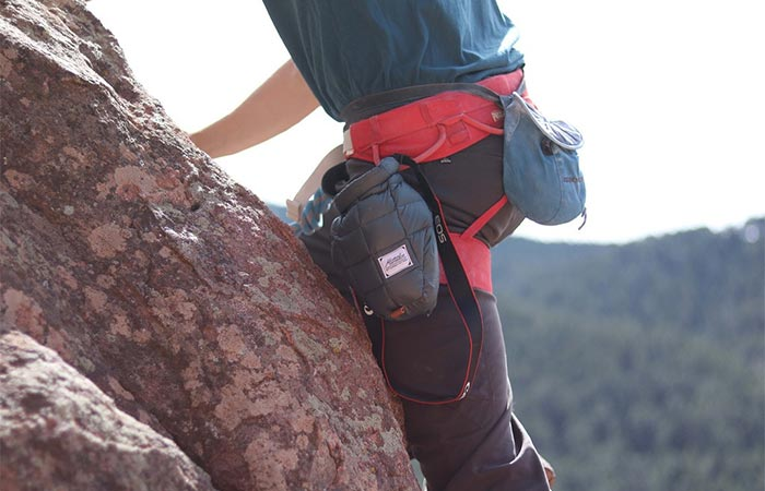 A Climber With Matador Camera Base Layer