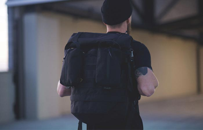 A Guy Wearing Recon Pack