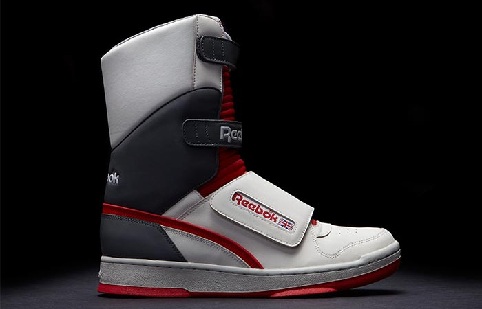One Reebok Alien Stomper Shoe From The Side