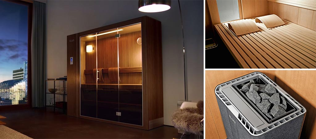 sauna s1 retractable sauna system by klafs. Black Bedroom Furniture Sets. Home Design Ideas