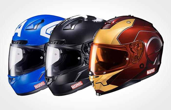 Captain America, Punisher and Iron Man Helmets
