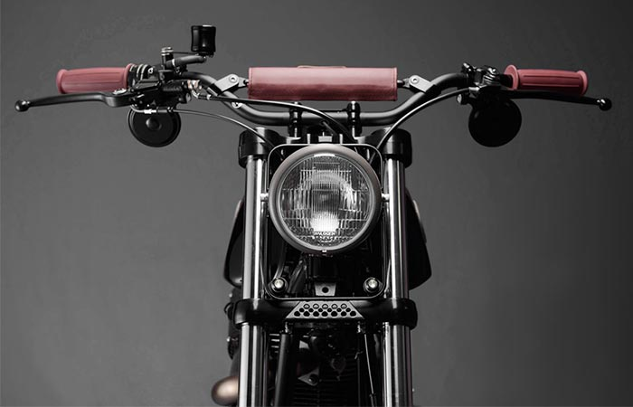 The Royal Enfield From The Front